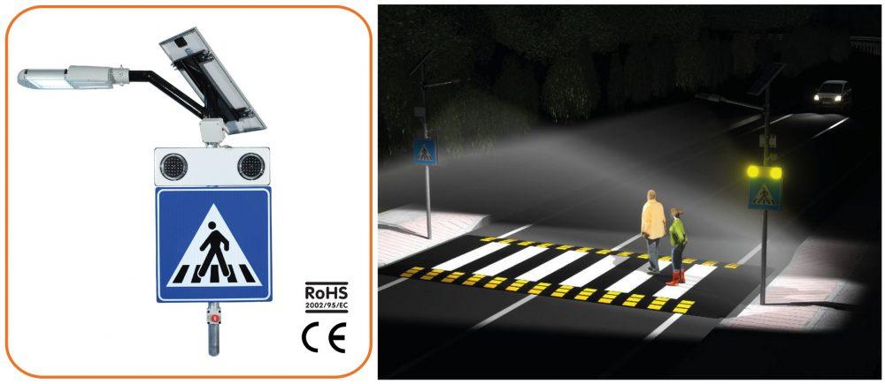Σύστημα υψηλής ασφάλειας για διαβάσεις πεζών